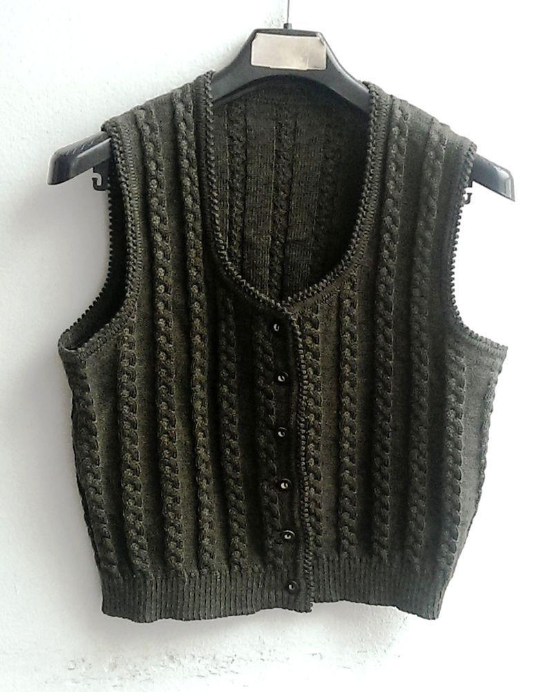 purchase cheap 24e98 0048f Looking for a pattern - Damen Trachten Strick Weste ärmellos ...