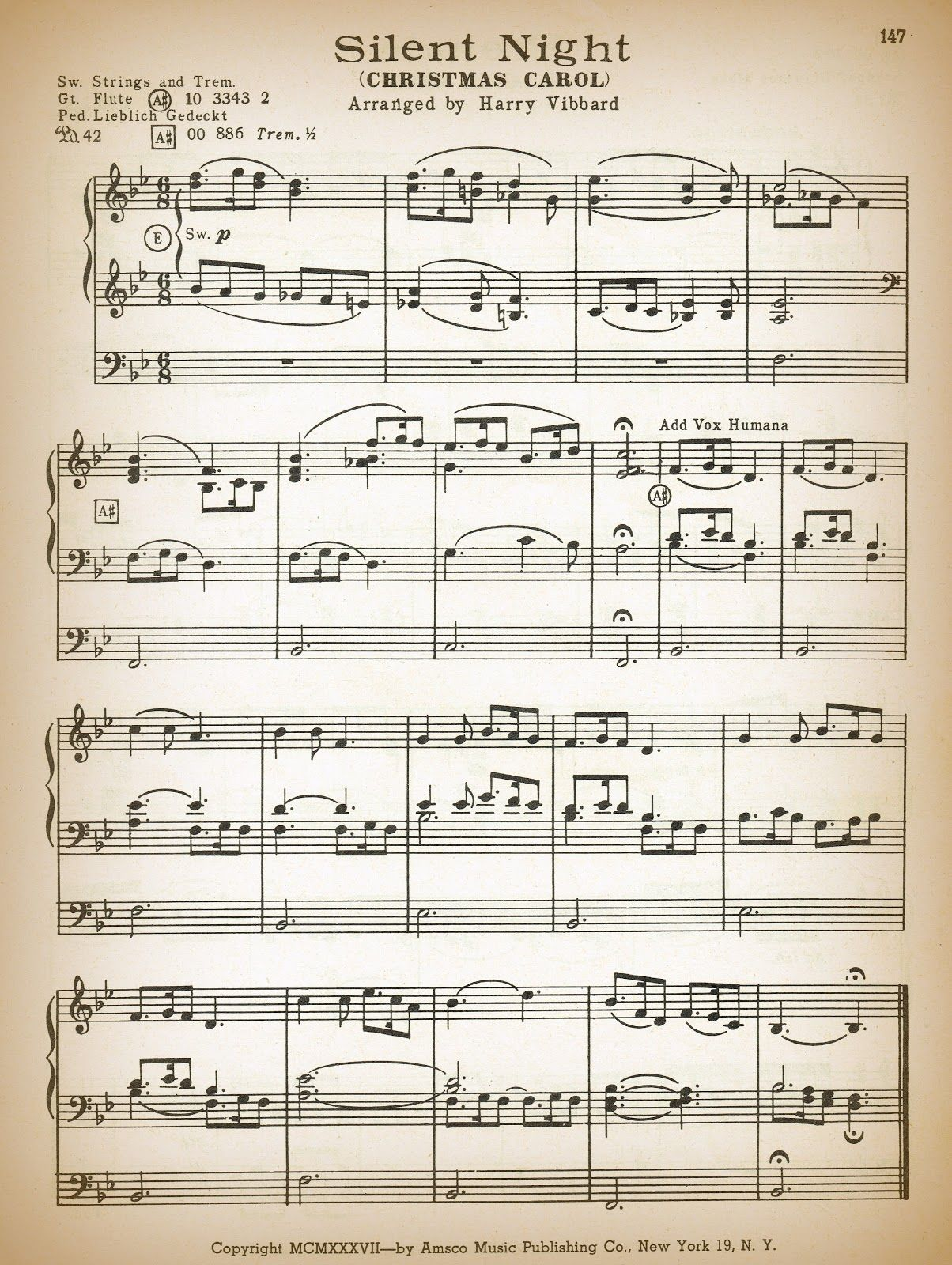 Printable Antique Christmas Sheet Music | It\'s beginning to look a ...