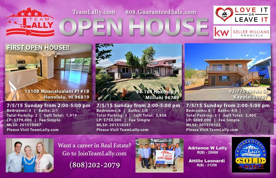 Come and visit any of our openhouses today in
