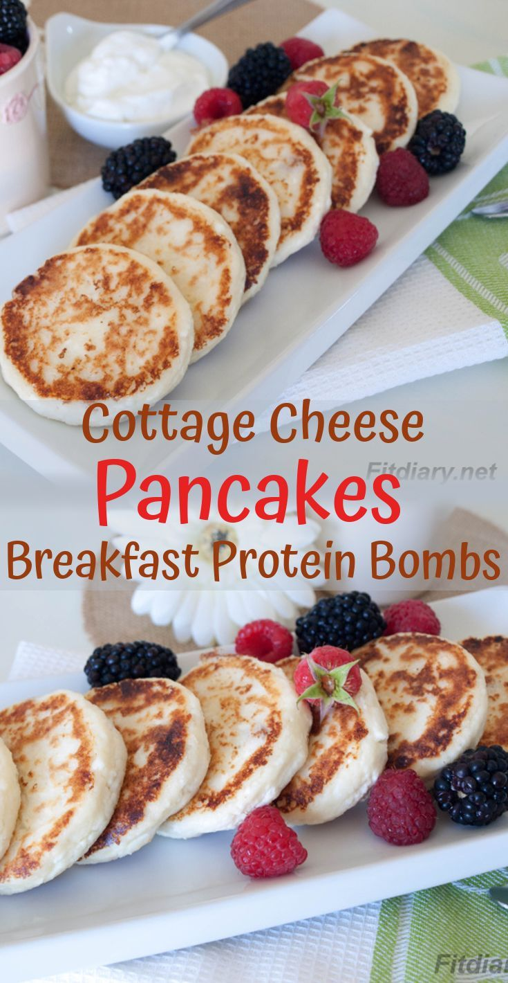 Low Carb Cottage Cheese Pancakes – Satisfying Healthy Protein Breakfast   - FIT FOOD -