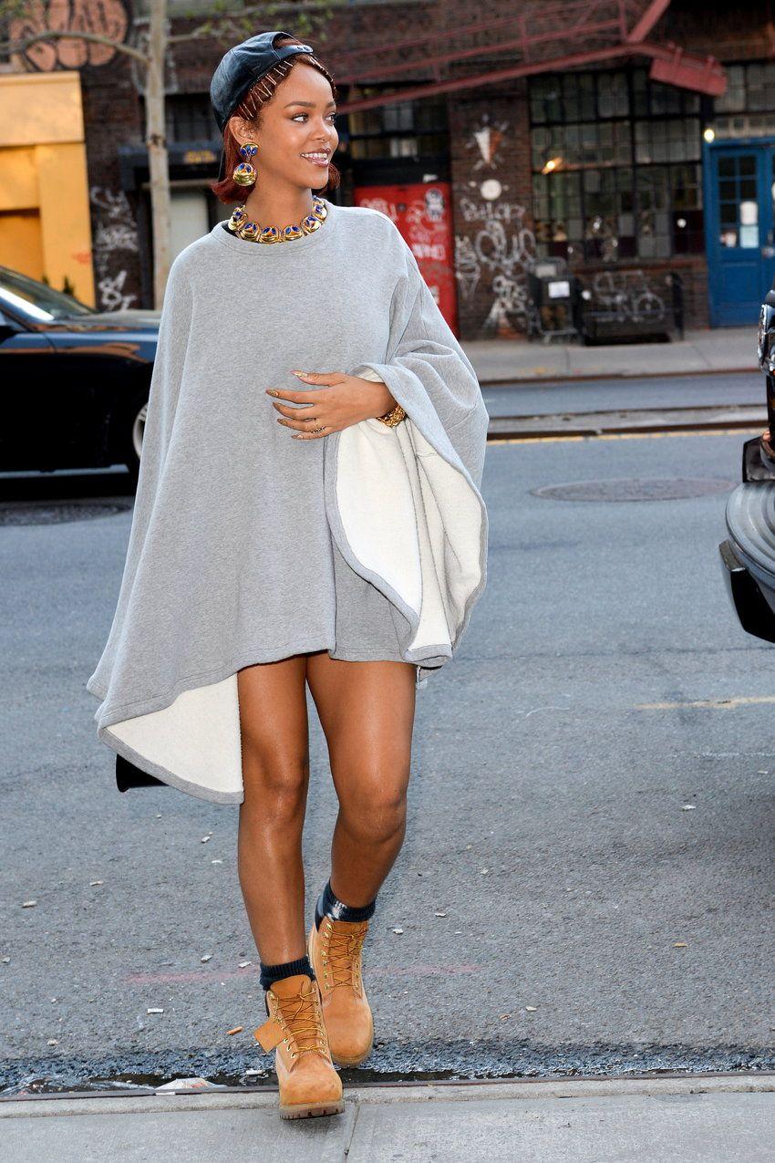 Jak Nosic Timberlandy Stylizacje Z Butami Typu Timberland Rihanna Style Fashion Womens Fashion Inspiration