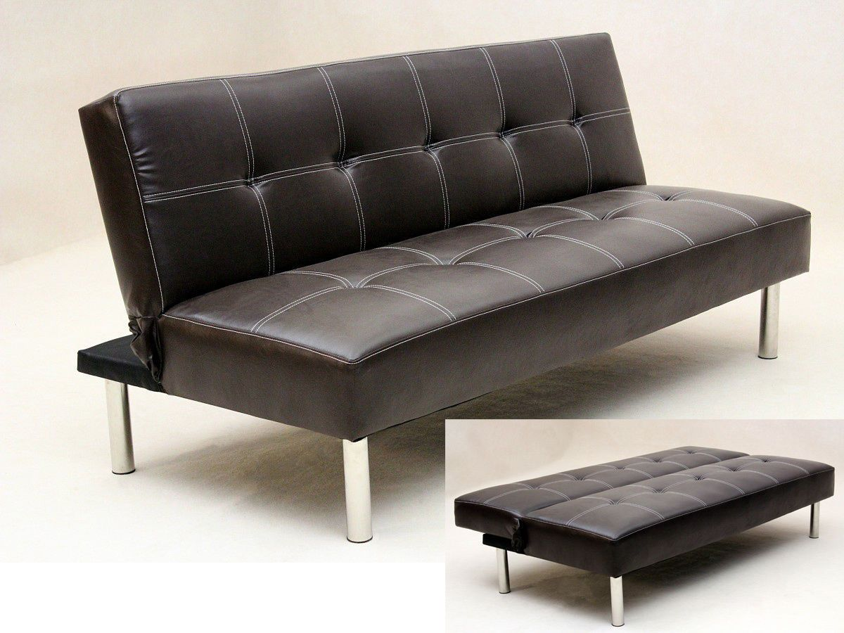 Black Leather Sofa Bed Best Collections Of Sofas And Couches