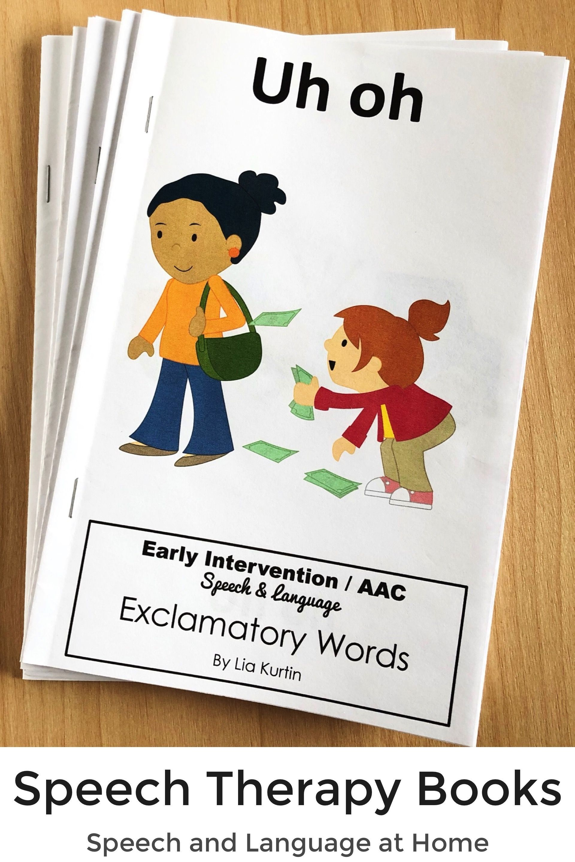 Exclamatory Word Books For Early Intervention Bundle Set