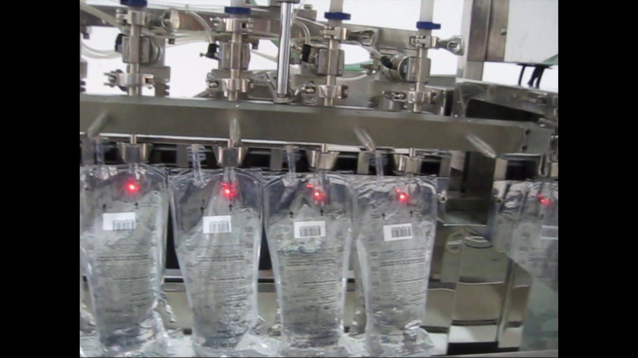 Video Of Automatic I V Bag Filling And Sealing Machine Packing Machine Filling Automatic