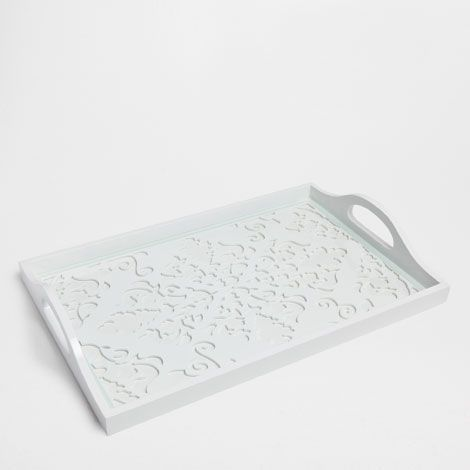 openwork white tray trays tableware zara home germany decorar el sal n pinterest. Black Bedroom Furniture Sets. Home Design Ideas