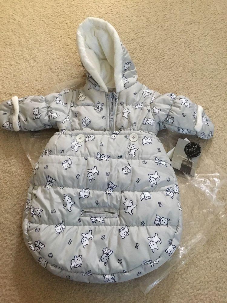 9e3f3bc09dd1 London Fog Newborn Infant Baby Boy Puffer Carbag Pram Bag Snowsuit ...