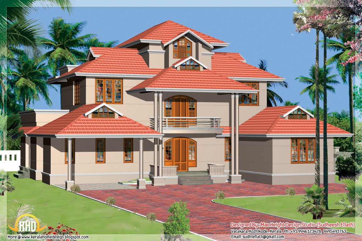 Kerala style beautiful home designs kerala home design for Beautiful kerala house plans