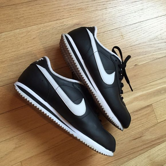 Nike Cortez Black and White Leather