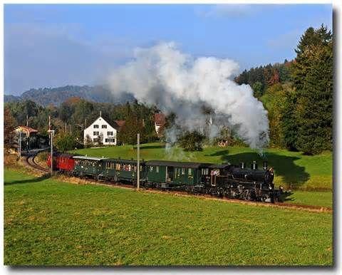 Tren a vapor Suiza