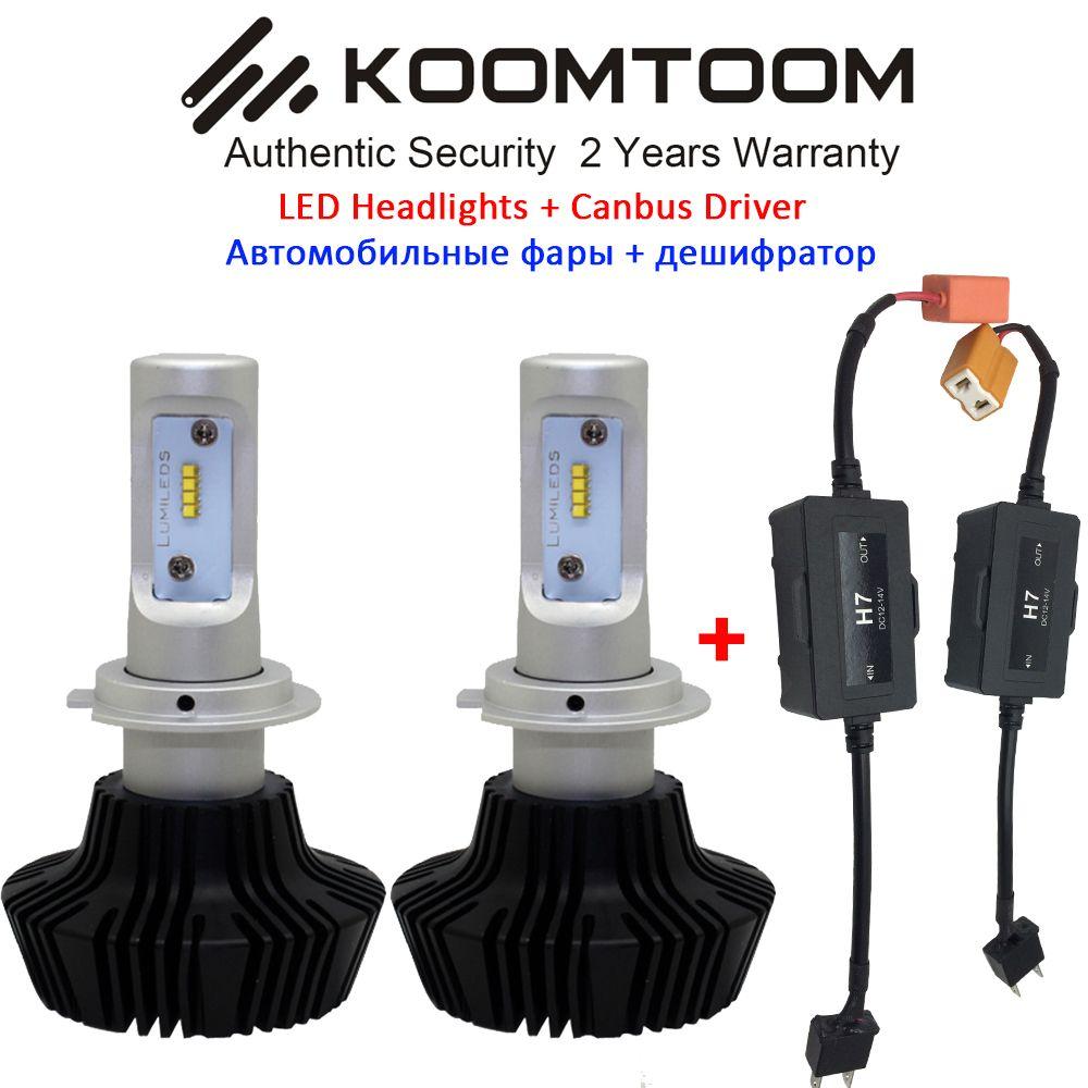 2pcs H7 LED Headlight Canbus Decoder NO Error H7 LED Bulb