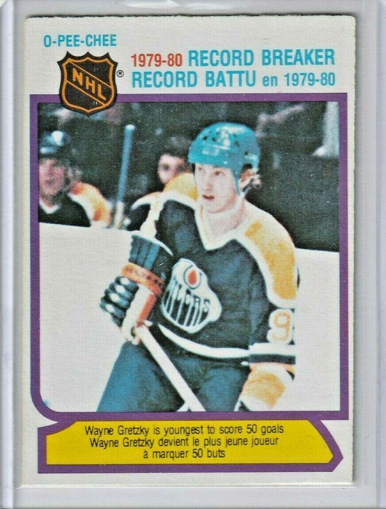 Wayne Gretzky 198081 OPC OPeeChee Edmonton Oilers HOF