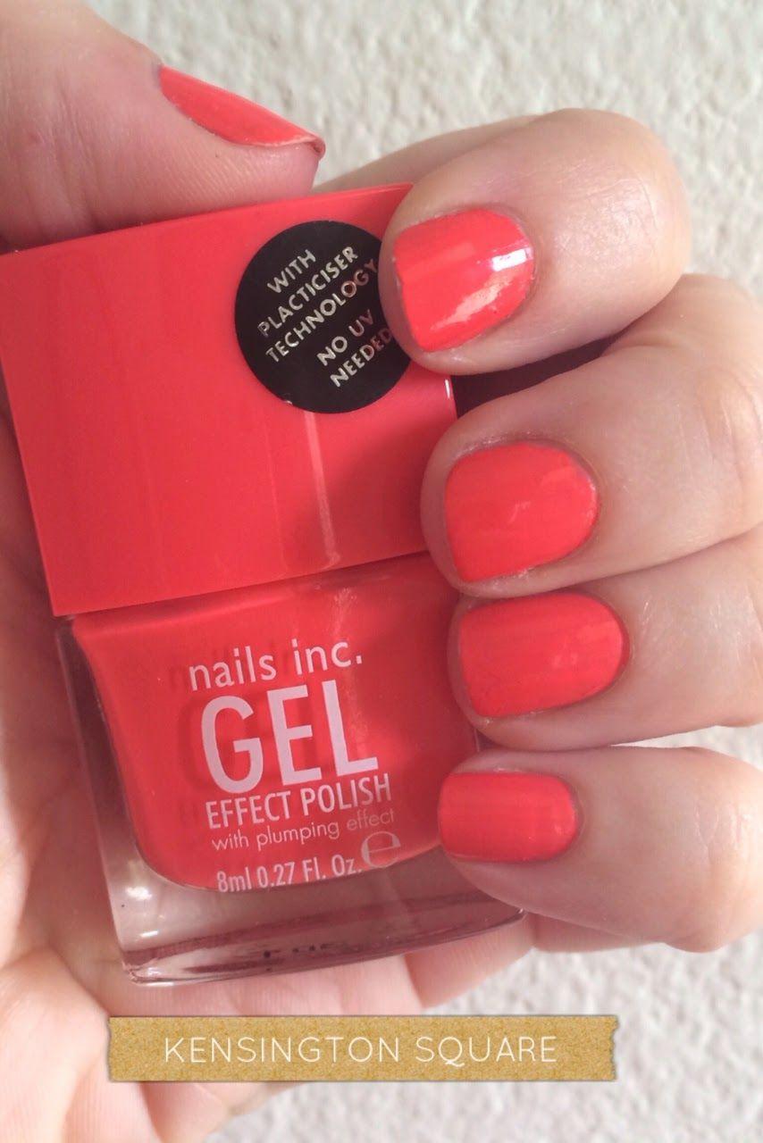 Nails inc gel nail colors and gel nail polish on pinterest - Manicure Nails Inc Orange Gel