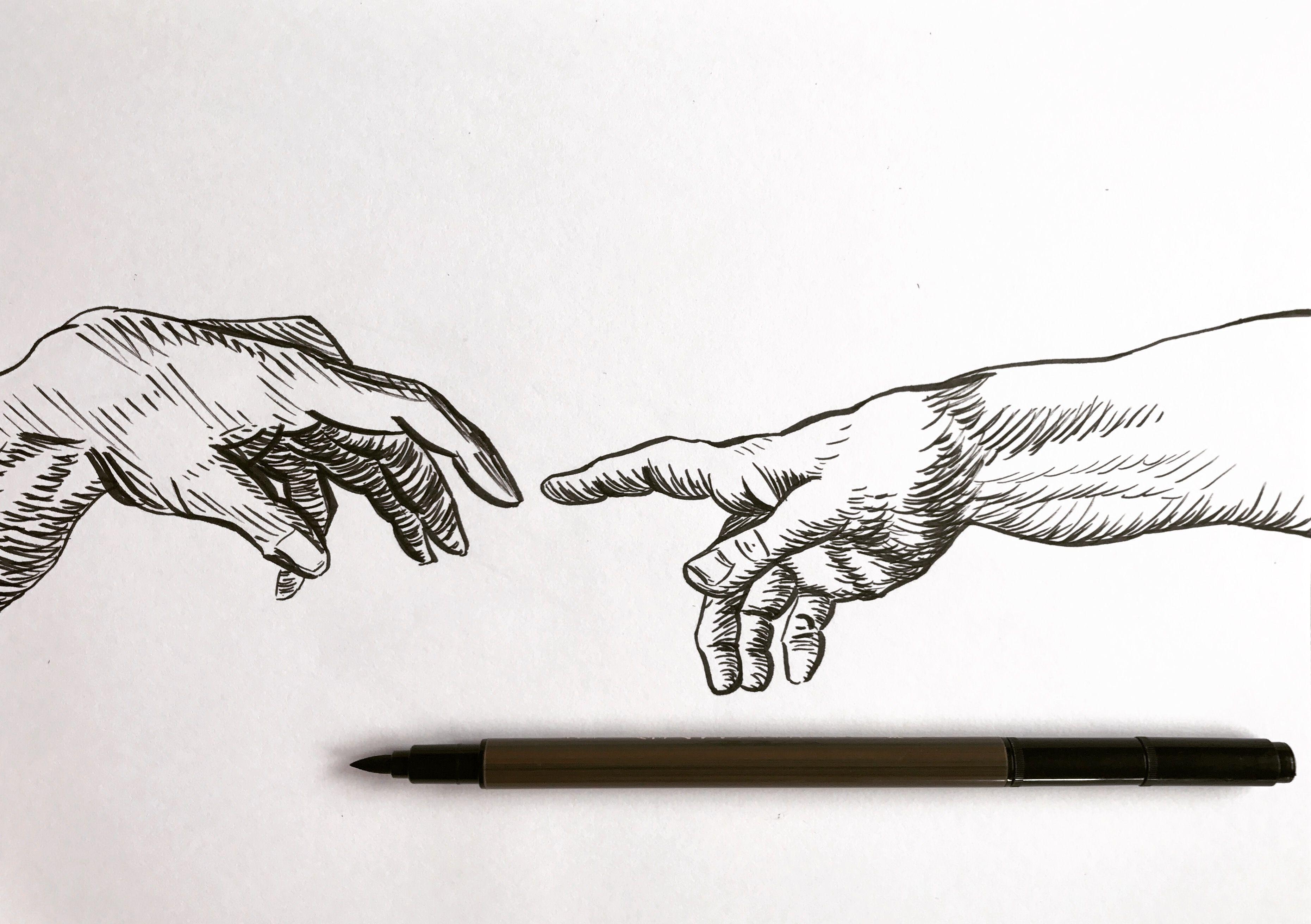 creative hand drawings - HD3723×2624