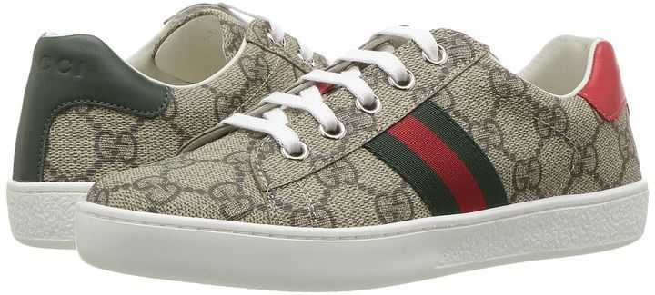 3f9380c3196 Gucci Kids GG Supreme Low-Top Sneakers Kids Shoes Gucci Kids