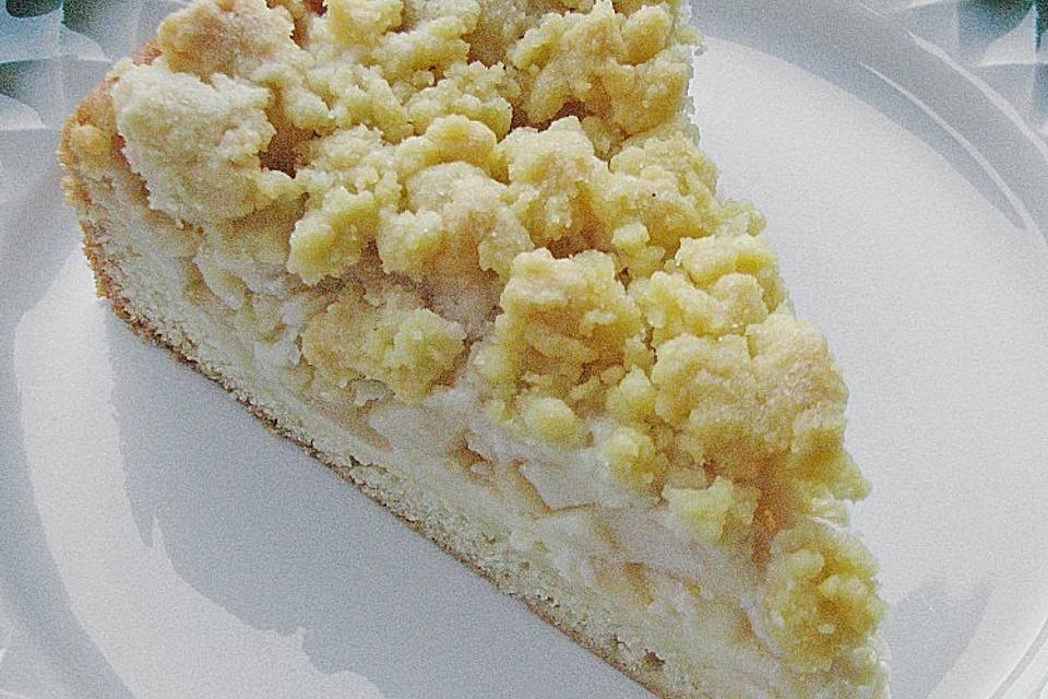 Apfel - Streuselkuchen mit Pudding von Lari | Chefkoch
