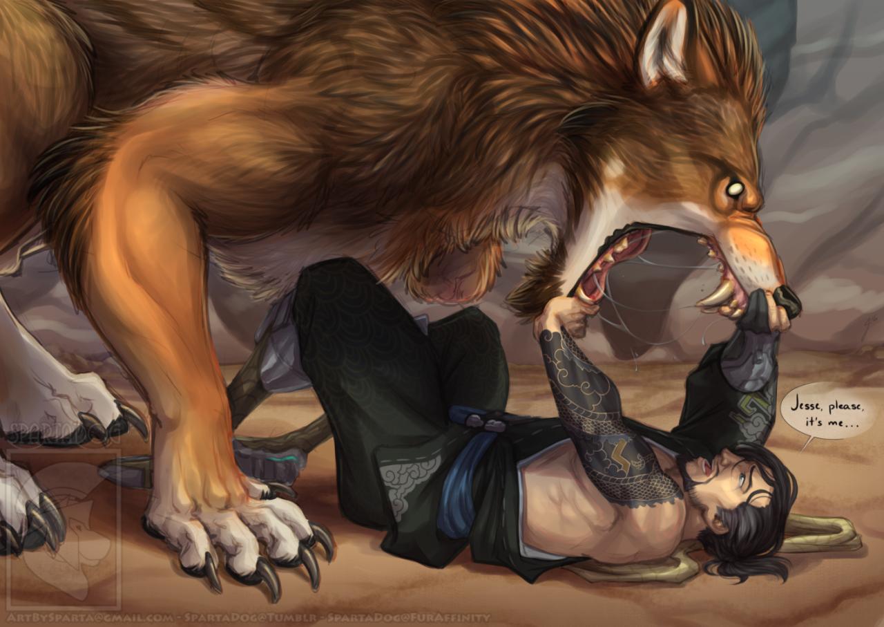 """spartadog: """" """"Humanity"""" Sooooo I found out werewolf!McCree"""