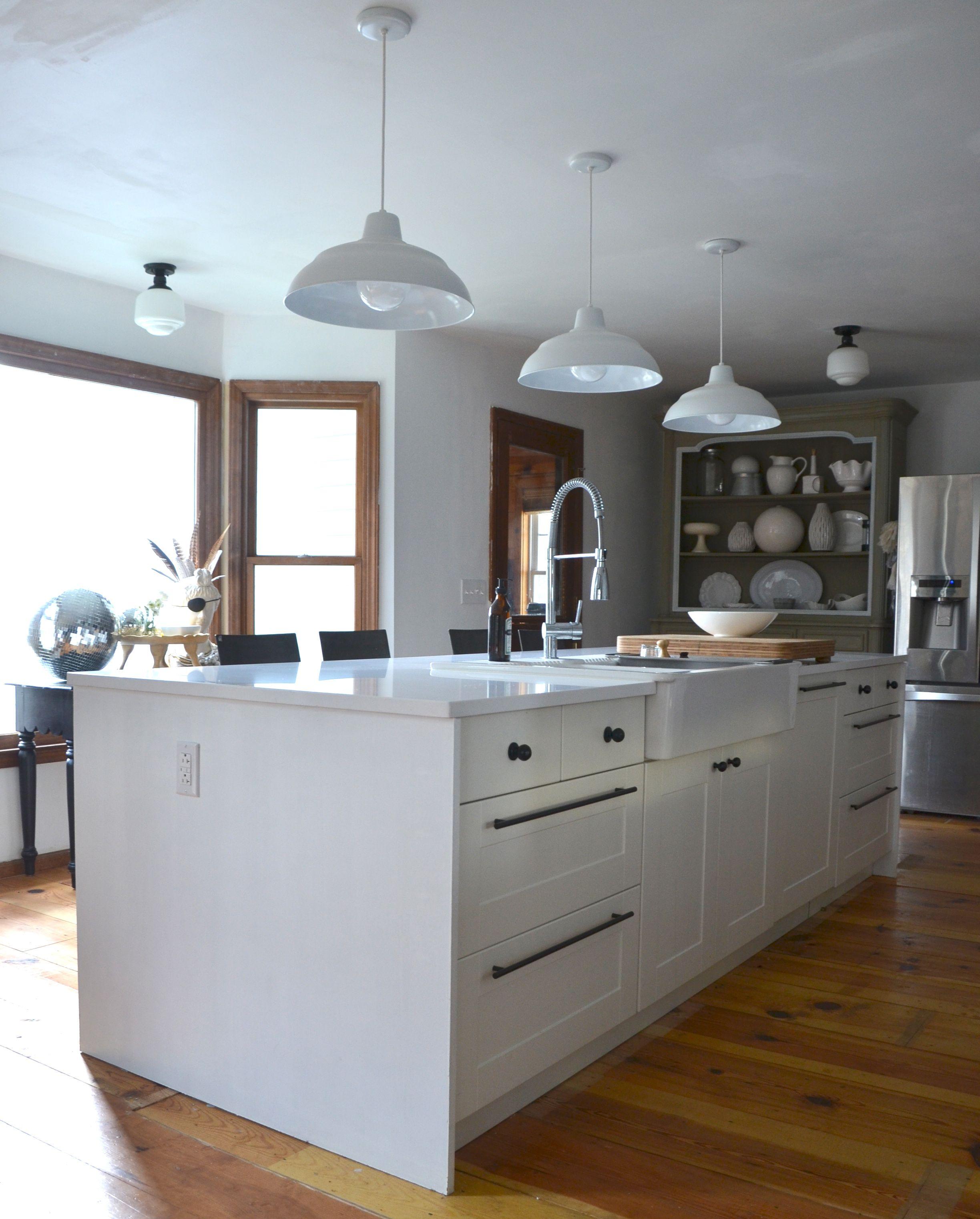 How to Fake A Kitchen Island Waterfall Edge Grey kitchen