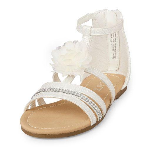 84afe5225a49cf ... big fashion meets little prices! Girls 3D Flower Gladiator Sandal