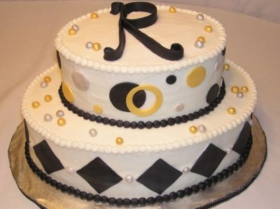 the letter r is perfect i like the gold silver id change out some of the black though birthday cake with black white gold silver by amyr on