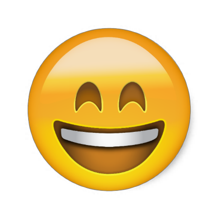 Smiling Face With Open Mouth Smiling Eyes Emoji Classic Round Sticker Zazzle Com Whatsapp Png Abracos Papeis De Parede