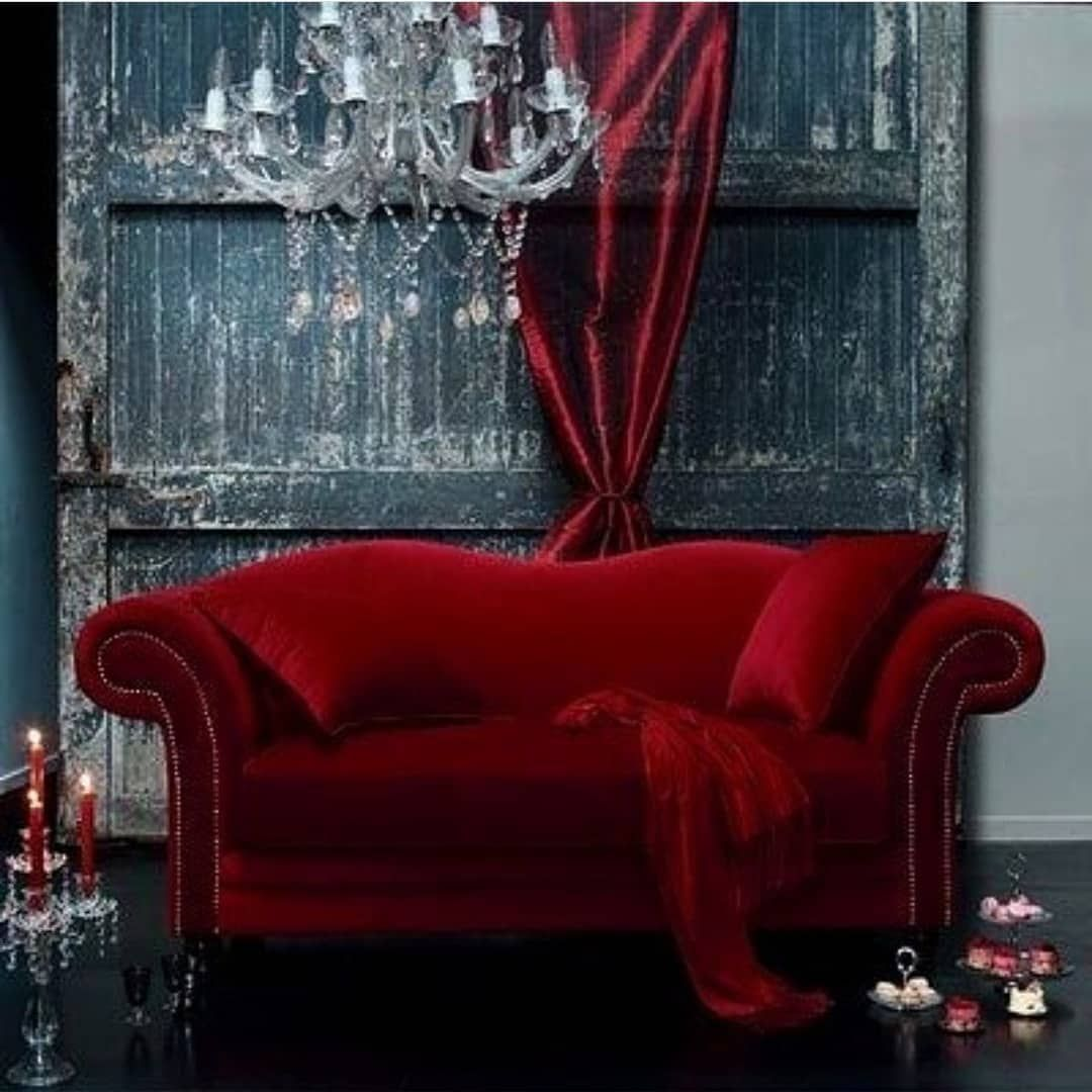 New The 10 Best Home Decor With Pictures Prayastibatik Gorgeously Jewel Toned Aesthetic Design Designer Maroon Loung Red Velvet Sofa Decor Red Sofa