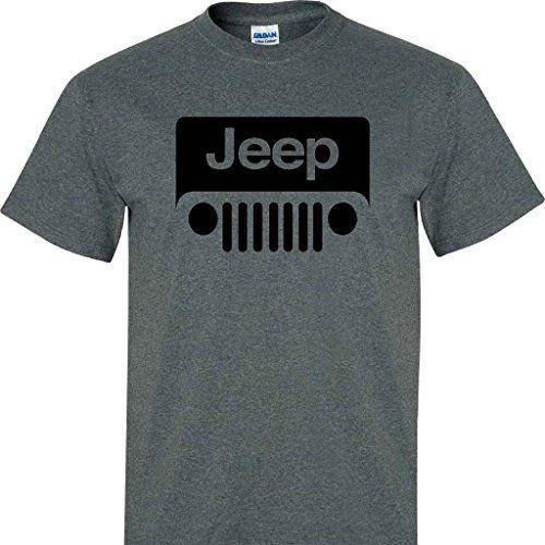 Dark Heather Jeep Wrangler Logo Tee Shirt Jeep Shirts Jeep