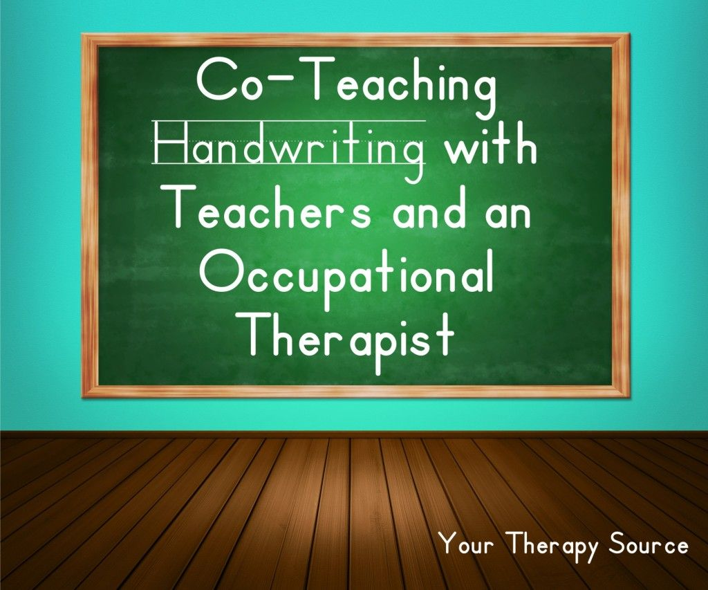Co-teaching handwriting with teachers and an OT - www.YourTherapySource.com