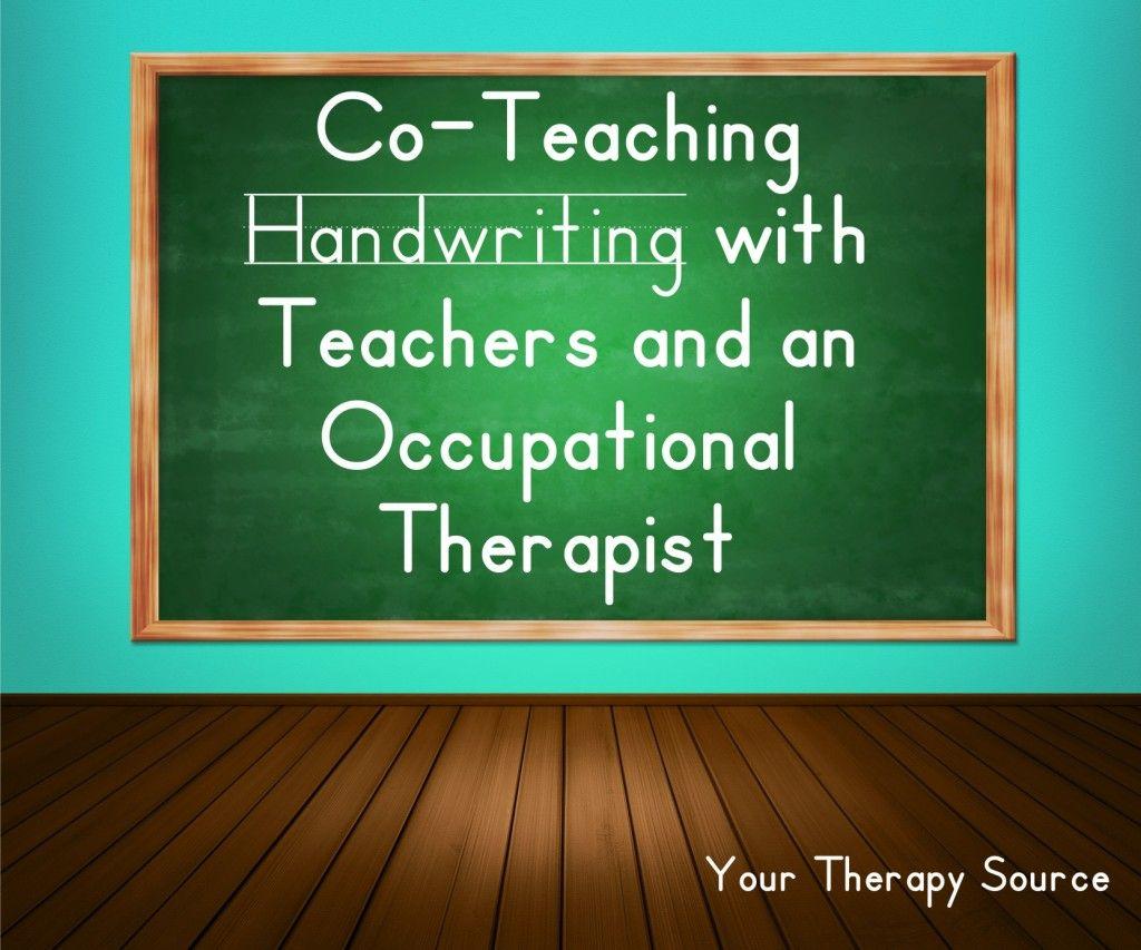 Co Teaching Handwriting With Teachers And An Ot