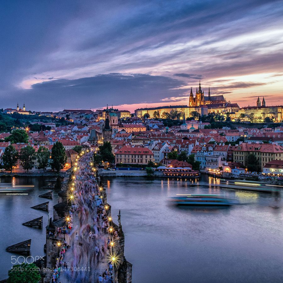 Popular on 500px : Prague sunset by sylberno