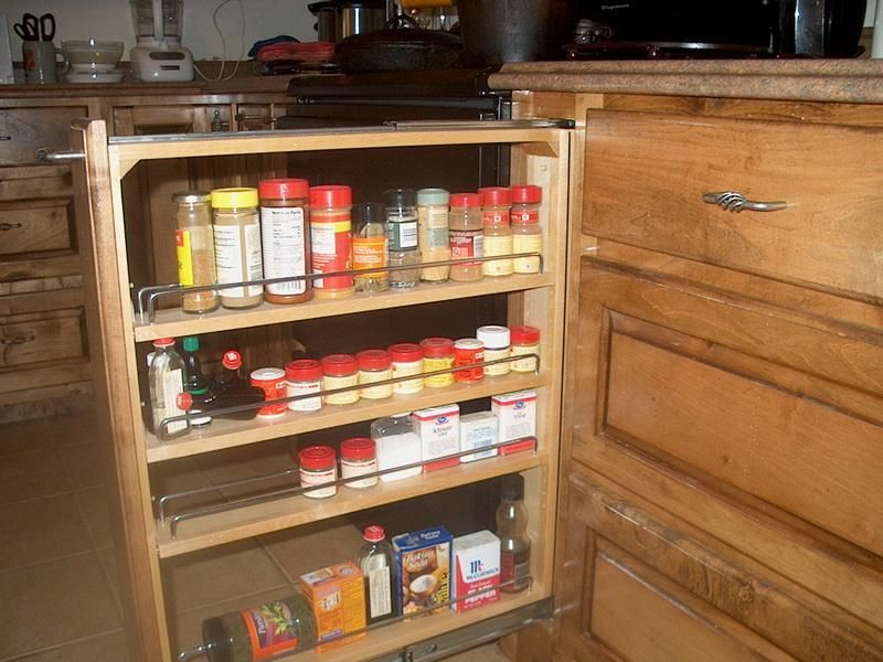 Pull Out Spice Cupboard | 18 Photos Of The Cabinet Pull Out Spice Rack