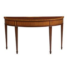 Want a unique piece to complete you living room look? Check out the Newman Demilune Sofa Table.