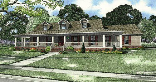 One Story Wrap Around Porch House Plans
