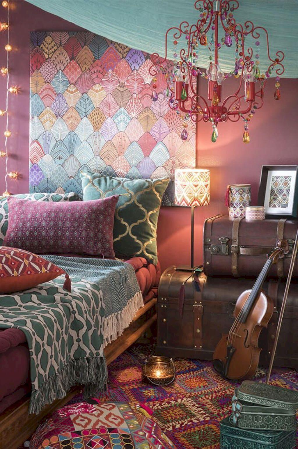 22 Inspiring DIY Boho Chic Decor Ideas on a Budget in 2020 ... on Boho Bedroom Ideas On A Budget  id=75549