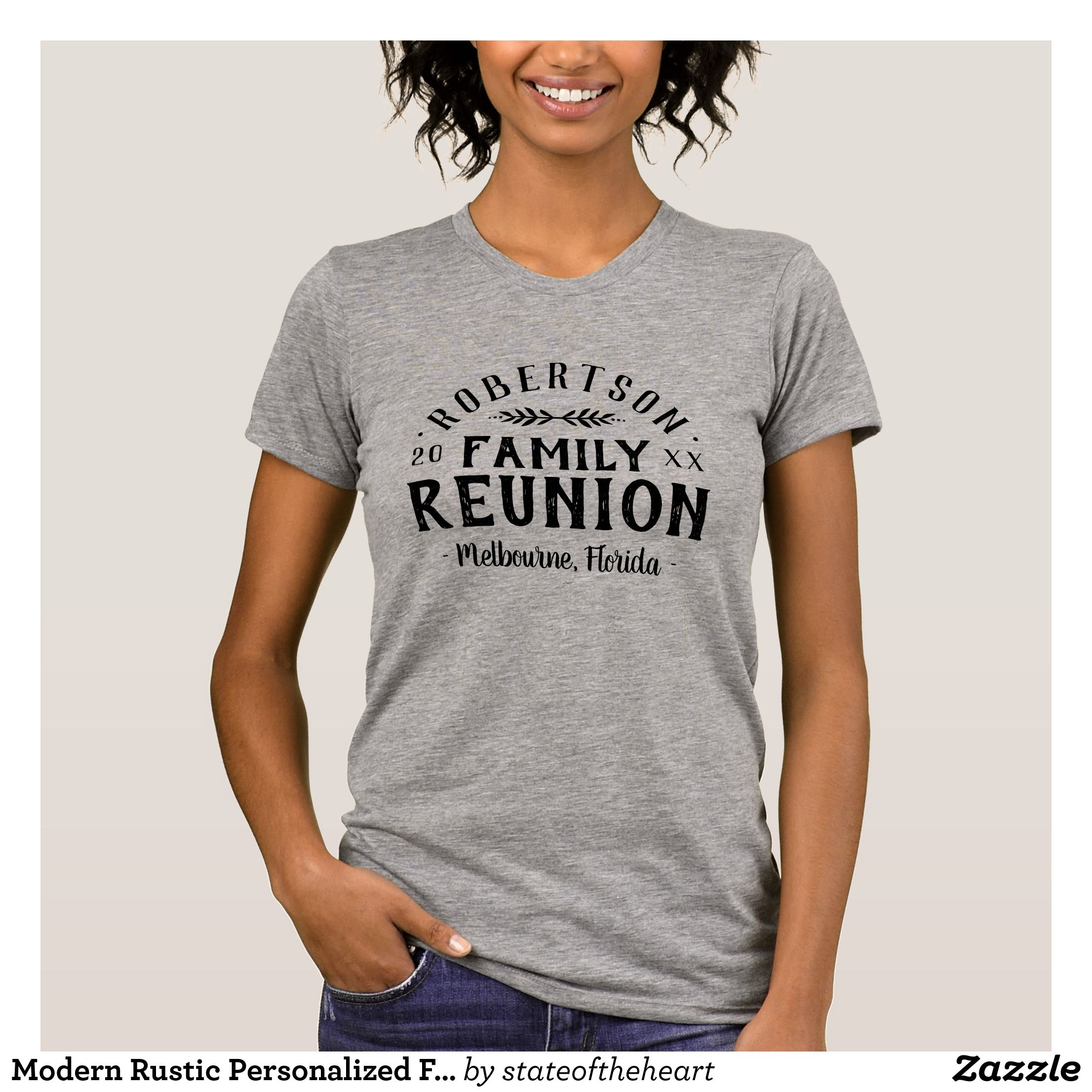 Modern Rustic Personalized Family Reunion Tee - Fashionable Women s Shirts  By Creative Talented Graphic Designers -  shirts  tshirts  fashion  apparel  ... f5bedc585