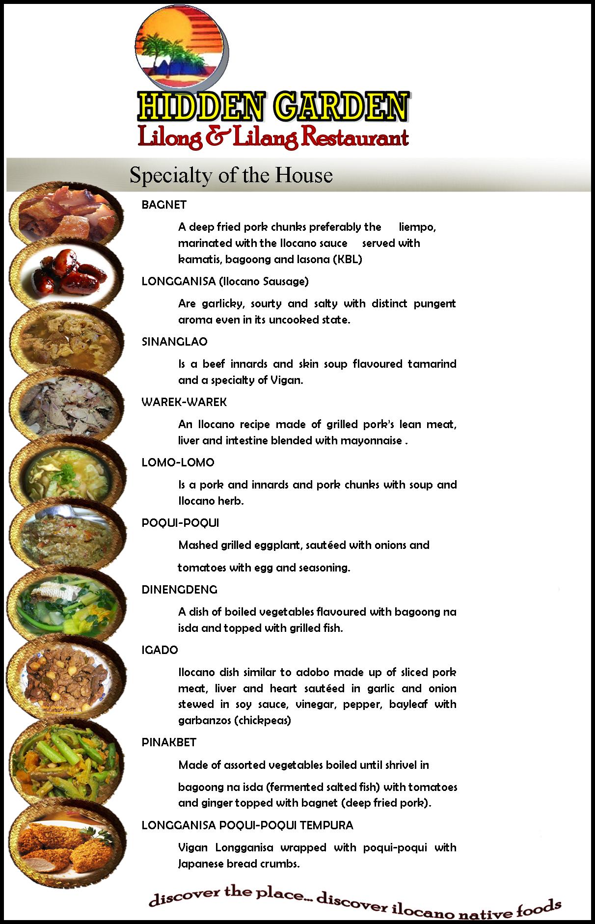 Hidden Garden Lilong And Lilang Restaurant Menu Hidden