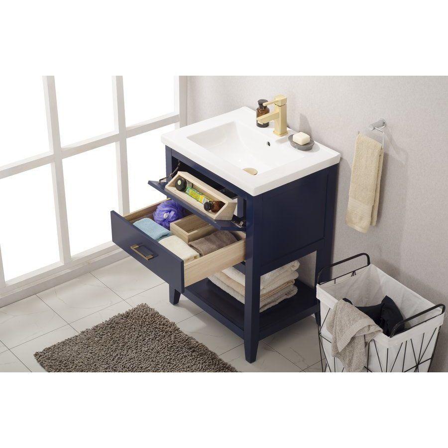 Design Element 24 Inch Cara Single Sink Bathroom Vanity Blue S02 24 Blu Single Sink Vanity Single Sink Bathroom Vanity Single Bathroom Vanity