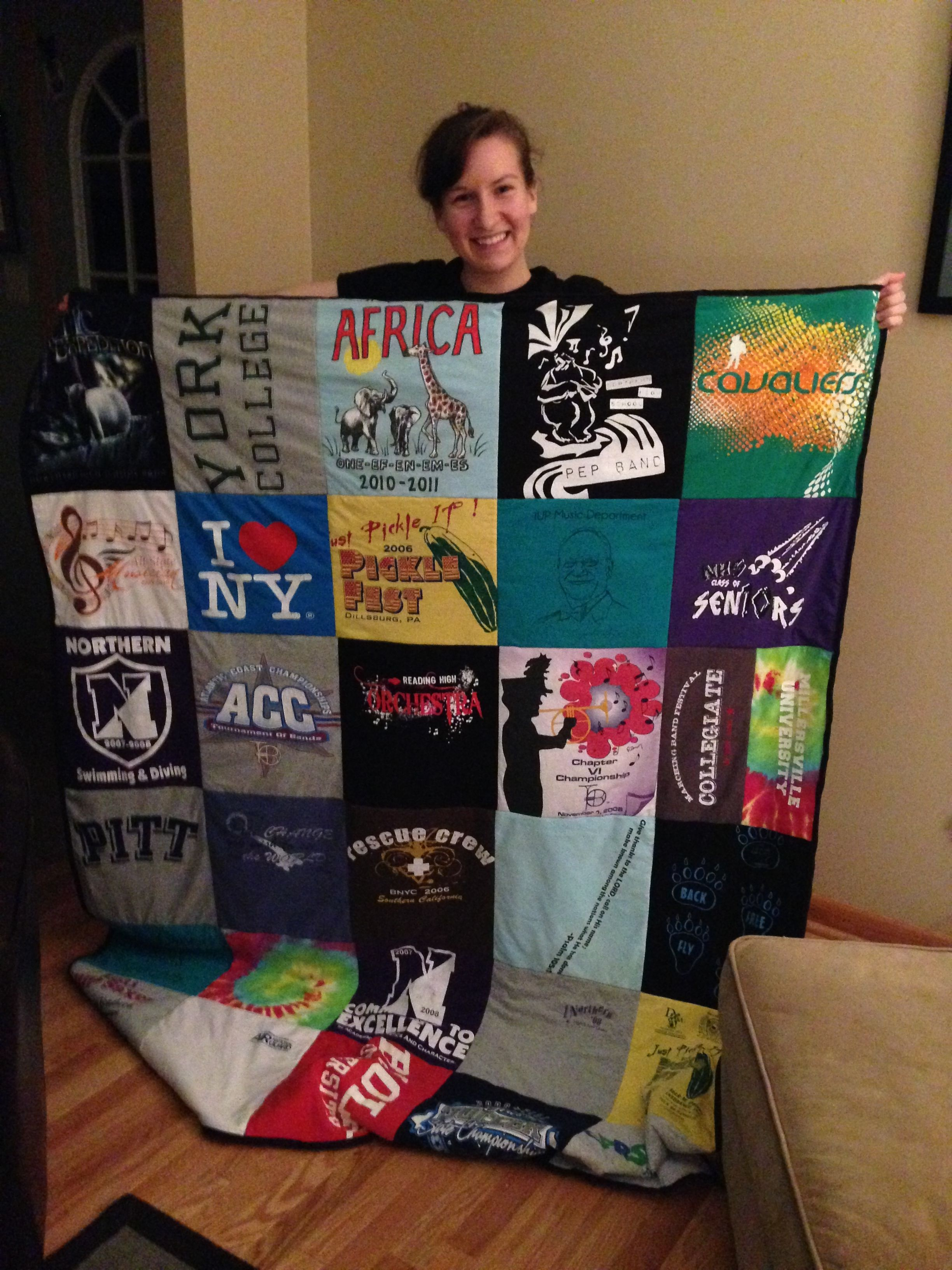 0c14248b37f24 Step-by-Step T-Shirt quilt. Good for old college t-shirts and other  memorable shirts!