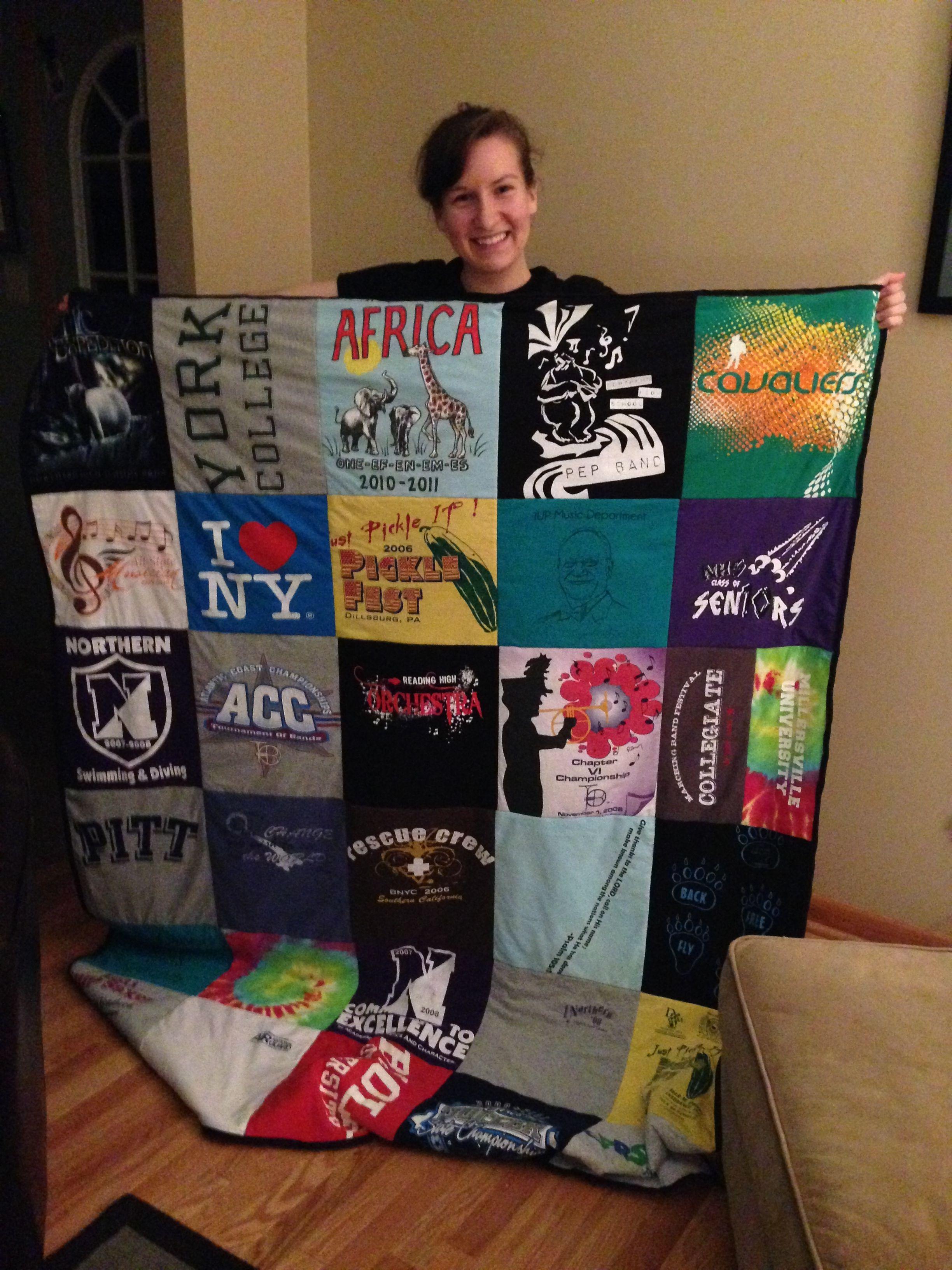 How To Make A T Shirt Quilt For Dummies Craft Ideas Pinterest