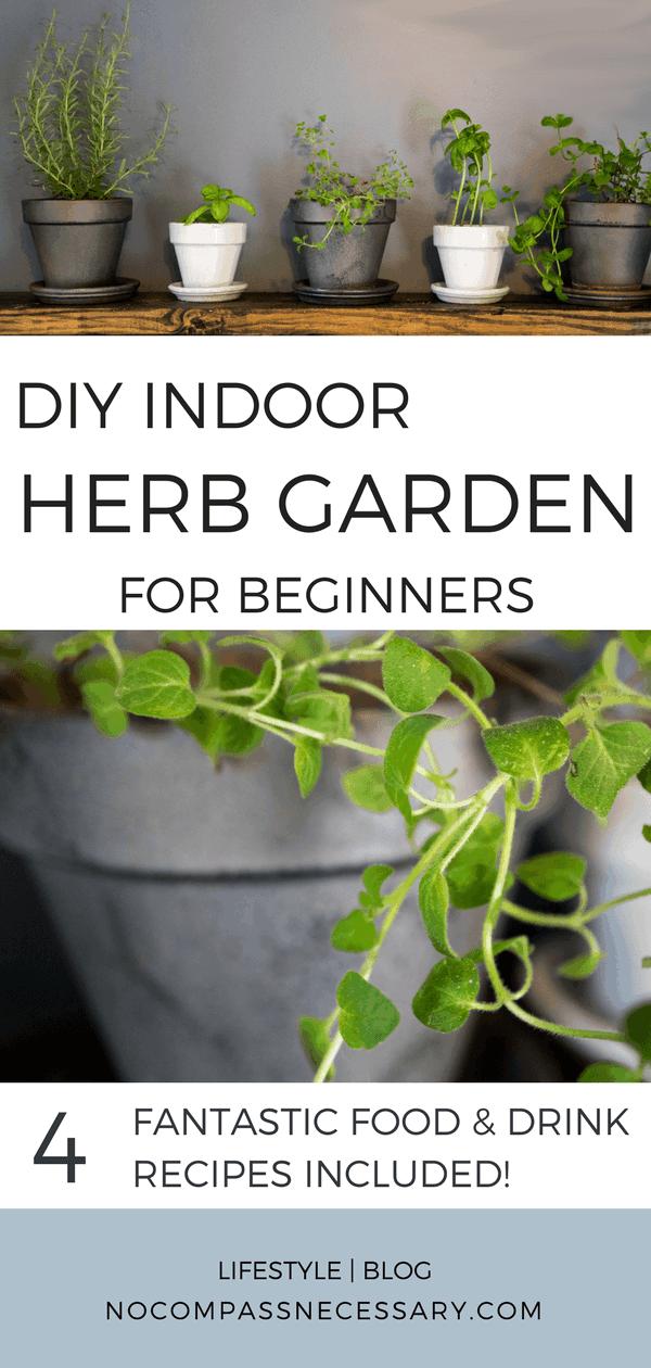 DIY Indoor Herb Garden For Beginners! #herbs #gardening #cooking #food #
