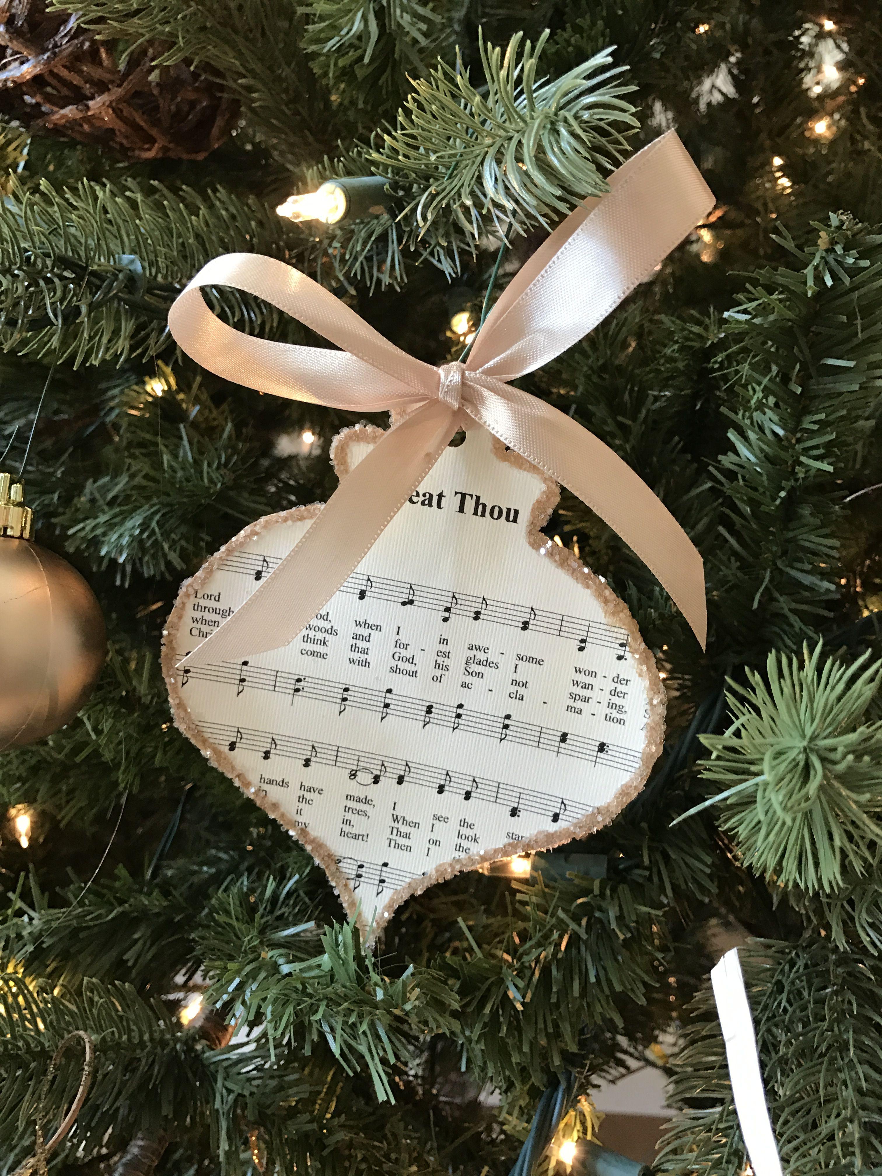 Sheet Music Ornaments Music Christmas Ornaments Christmas Crafts Christmas Ornament Crafts