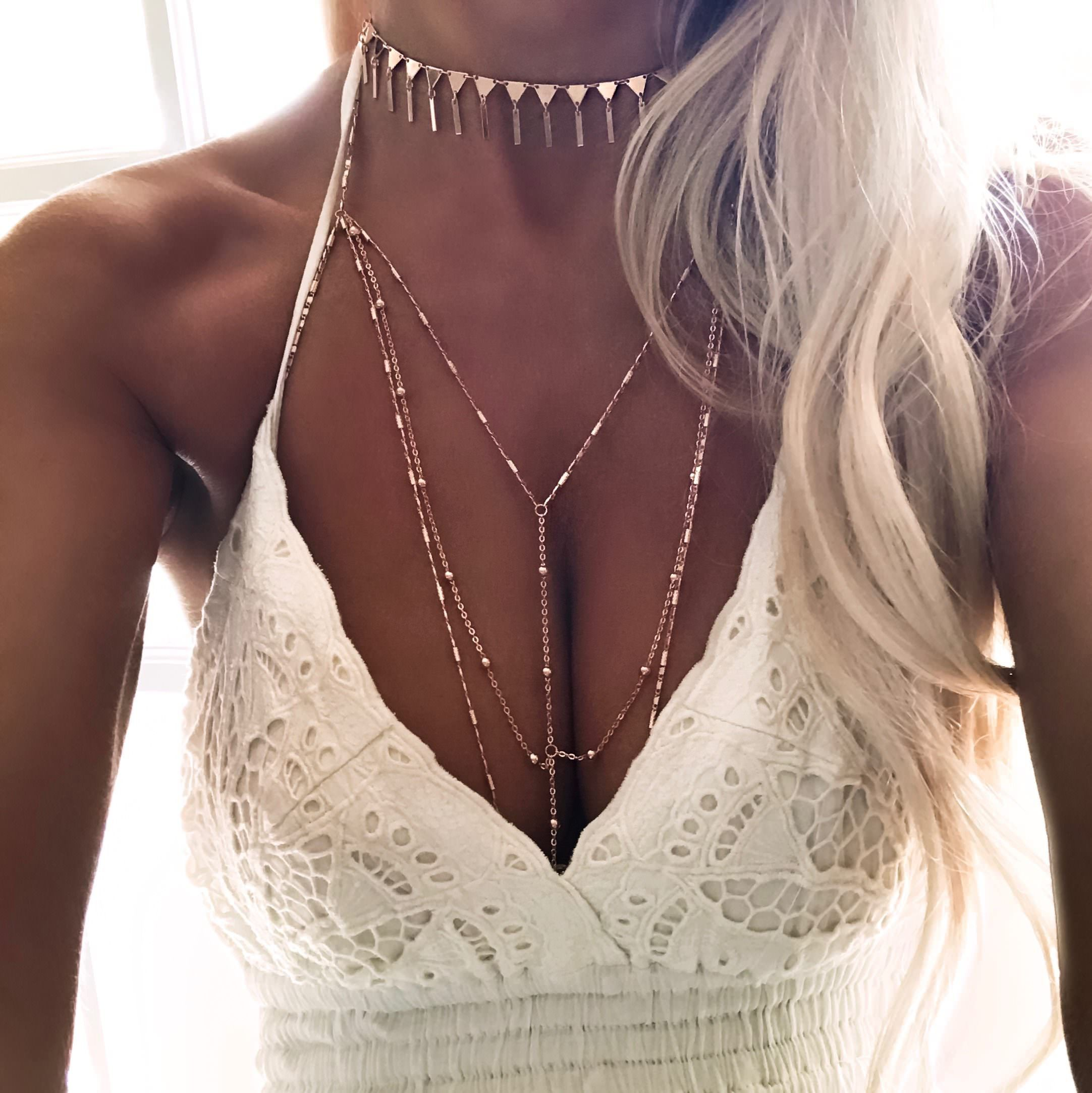 Gypsylovinlight Starlight Body Chain Rose Gold