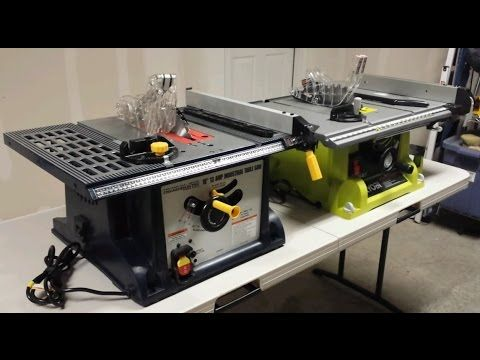 Harbor Freight Table Saw Vs Ryobi Portable Table Saw Youtube