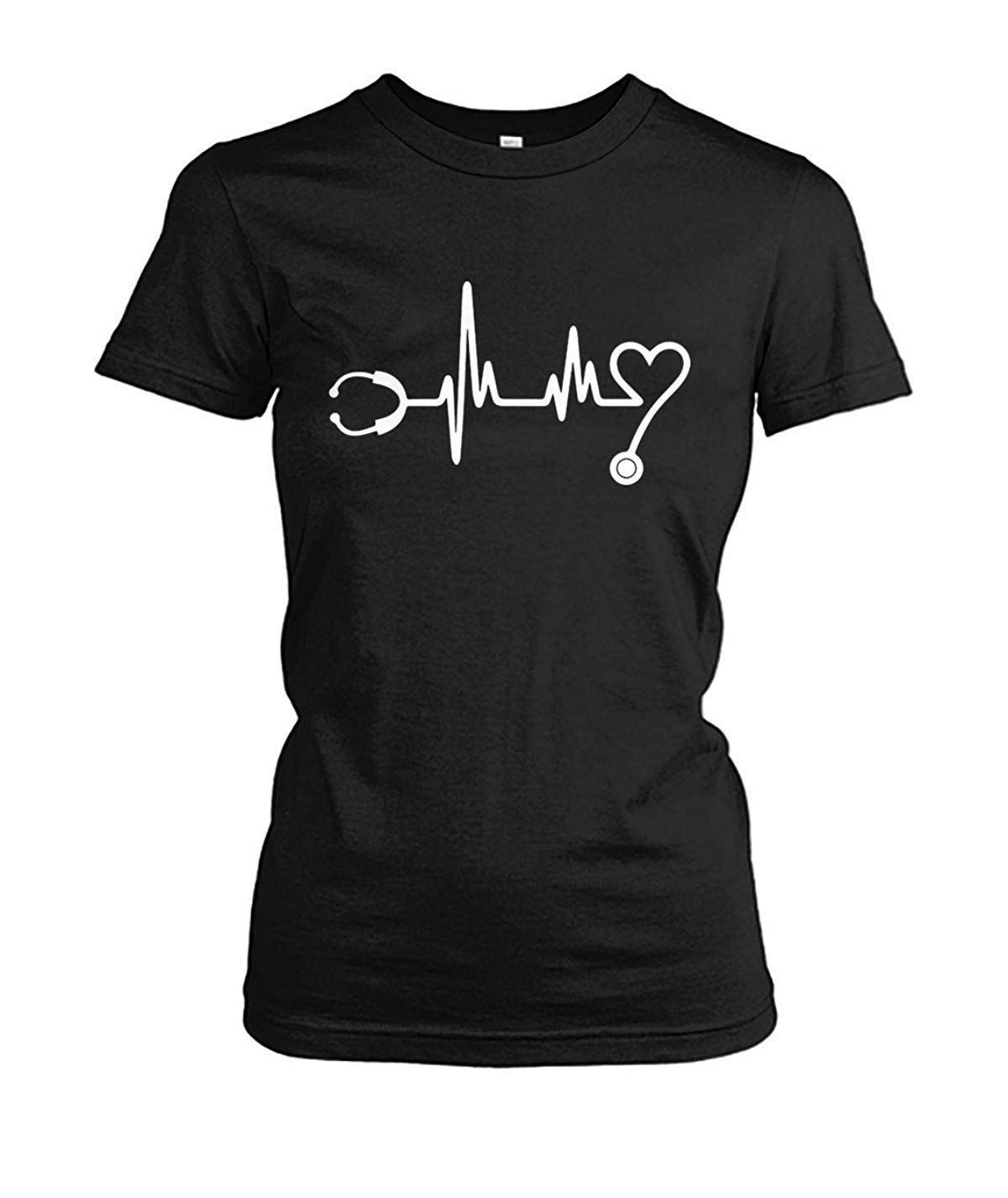 Heartbeat Nurse Funny TShirt For Women in 2020 Funny