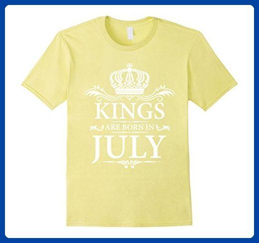 65c0024cf Mens BIRTHDAY BOY-KINGS ARE BORN IN JULY (W4) T-SHIRT 2XL Lemon - Birthday  shirts (*Amazon Partner-Link)