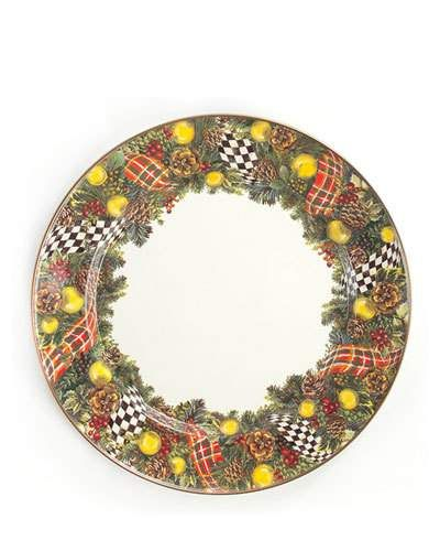 39af493b6569 H7YDC MacKenzie-Childs Evergreen Charger Plate