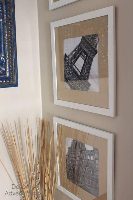 How to Make Burlap Picture Mats | Burlap pictures, Picture matting ...