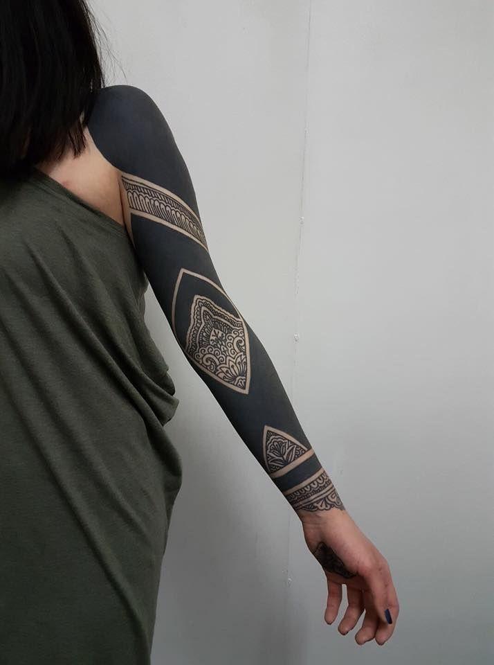 2ffd0931a346b Pin by Trance Higgins on tattoos | Geometric tattoo design, Solid ...