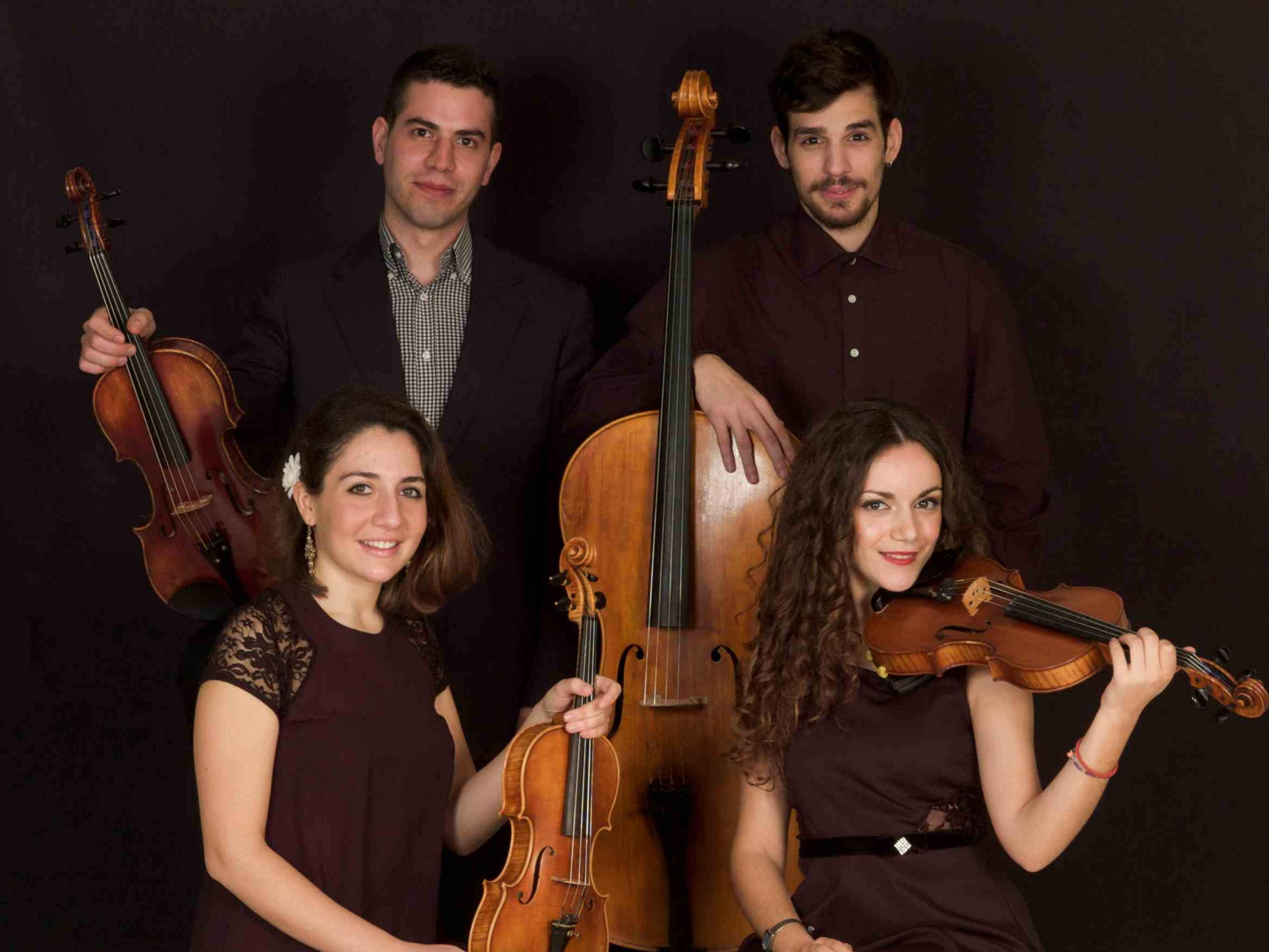 """24th December 2015 - The Athenian Rhapsody Quartet performance @ Astra Service SA in Neo Heraklion. 88, Marinou Antypa Str for Christmas Celebrating """"Road Show"""" event staged by Astra Service."""
