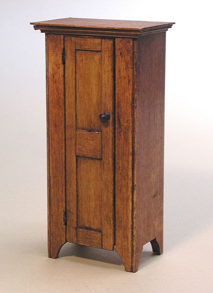 Miniature Shaker Jelly Cabinet Circa 1830 By Ken Byers.