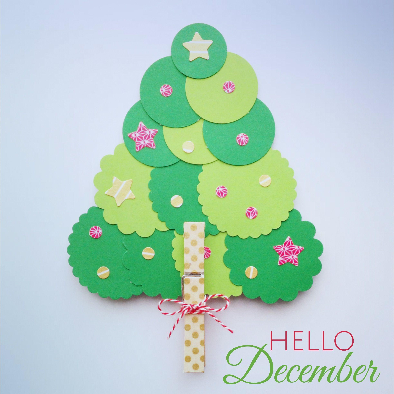 Rbol de navidad hecho con c rculos de papel navidad - Adornos de navidad con cartulina ...
